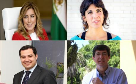 Los candidatos a las elecciones andaluzas.