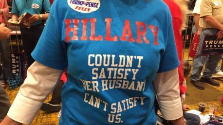 Hillary Clinton no pudo satisfacer a su marido, tampoco puede satisfacernos a nosotros.