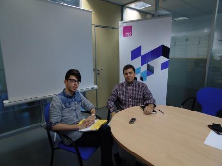 De izq a dcha. Tomás Moraga y Víctor Sobrino, Director TNS