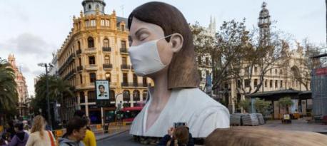 Ninot de la Falla del Ayuntamiento de Valencia