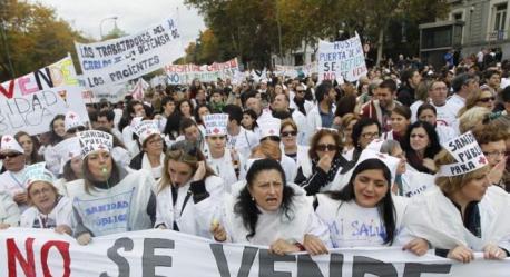 Manifestación marea blanca Madrid
