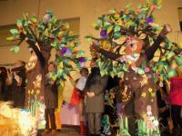 Grupo Independiente las Veteranas recogiendo el premio en el Carnaval (Alcorcón)