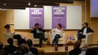 El panel de la presentación en Madrid.