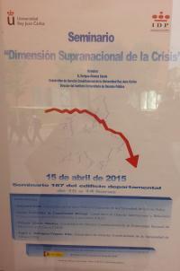 """Cartel de la conferencia """"Dimensión Supranacional de la Crisis"""""""