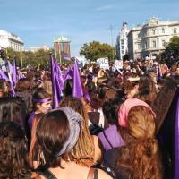 Manifestación del 7 de Noviembre contra la Violencia de Género en Madrid