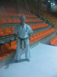 Jesús Talán maestro de karate en Alcorcón