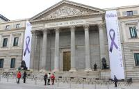 Congreso de los Diputados, pancartas 8m, feminismo