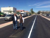 Raúl López visita la Avenida de San Pablo con el primer Teniente de Alcalde Paco Becerra. Foto: Ayto. Coslada