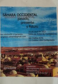 Cartel congreso Sáhara occidental: pasado, presente y futuro