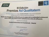 Diploma Premios Ad Qualitatem