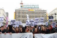 """Manifestación estudiantil en la Puerta del Sol por el """"caso Cifuentes"""""""