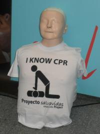 RCP, muñeco, emergencia, jornada, Alcorcón