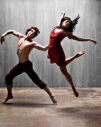 Actuación  de la compañía Larumbe Danza