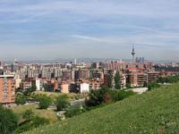 Vistas del barrio de Vallecas desde el Puente de Vallecas