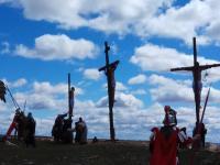 Momento de la crucifixión de Jesús