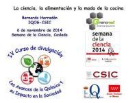 Cartel de una conferencia en Coslada en el marco de la Semana de la Ciencia 2014