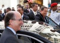 Chávez y Antonio Brufao, presidente de Repsol