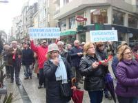 Manifestación de la plataforma de afectados por las pensiones