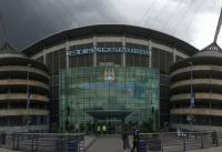 Exterior del estadio de fútbol del Manchester City