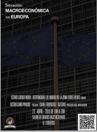 "Cartel de Congreso ""Situación macroeconómica en Europa"""