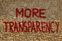 Más transparencia. Ilustración en un muro de una casa