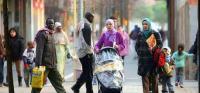 Inmigrantes en las calles de Fuenlabrada
