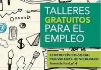 Cartel de los talleres de empleo de Vicálvaro