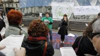 Docentes impartiendo clase en la Puerta del Sol
